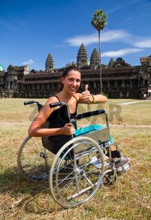 Reisen im Rollstuhl am Angkor Wat