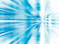 Simple white and blue background with motion blur effect- 3d illustration