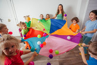 Bright colorful Birthday games for energetic children