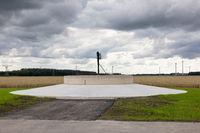 Concrete fundament new wind urbine in Flevoland, The Netherlands