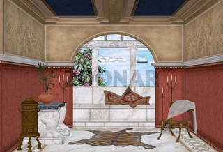 mediteranes Badezimmer