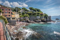 The promenade of Nervi in Genoa, Italy.