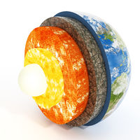 Layers of earth. 3D illustration