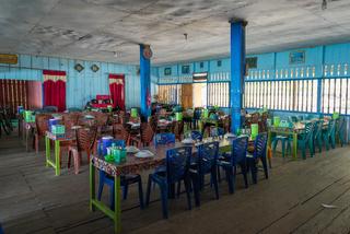 Fischrestaurant im Norden von Sulawesi