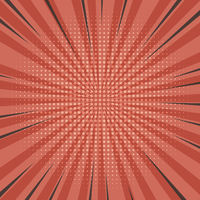 starburst comic background with halftone grid