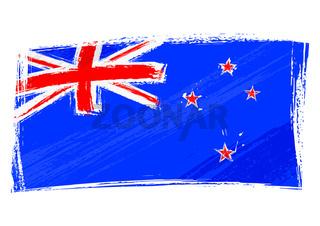 Grunge New Zeland flag
