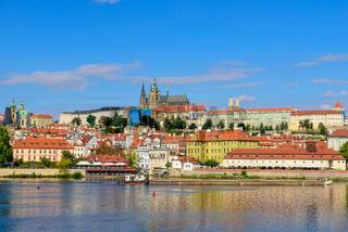 Prague Castle, the largest ancient castle in the world, in Prague, Czech Republic