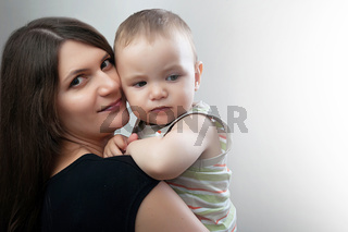 portrait of mother and toddler