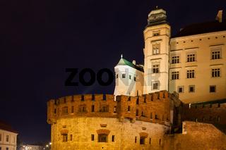 Wawel Royal Castle at Night in Krakow