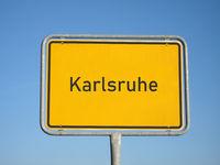 place name sign Karlsruhe