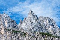 Blick auf die Mühlsturzhörner im Berchtesgadener Land in Bayern