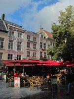 sidewalk café in Antwerpes