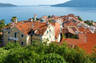 Bay of Kotor and Herceg Novi town (Montenegro)