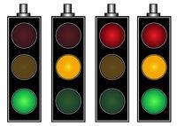 Four traffic lights
