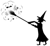 Witch Silhouette, Broom Reach