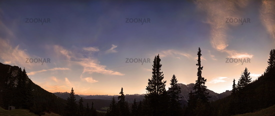 Alpine sky panorama