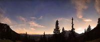 Alpine sky panorama