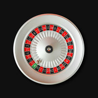 Casino roulette wheel isolated on Black background