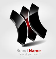 Abstract glossy brand logo