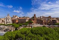 Square Piazza Venezia in Rome Italy