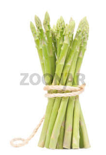 Isolated fresh green Asparagus bundle