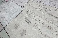 HOLLYWOOD, CALIFORNIA, USA - JULY 29 : Rita Hayworth signature and handprints in Hollywood on July 29, 2011