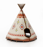 Indian tent isolated on white background. 3D illustration