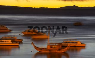 Titicaca at night