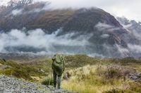 Hike in New Zealand mountains