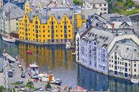 Cityscape View, Alesund, Norway