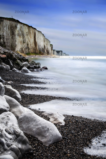 chalk cliffs of Ault, Picardy, France