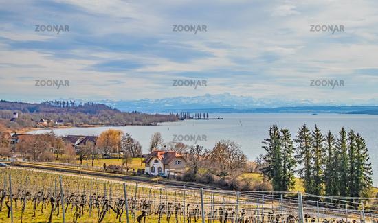 Alpine panorama, Birnau on Lake Constance