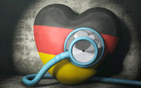 Patient Germany - symbolic image on the topic of the crisis in Germany