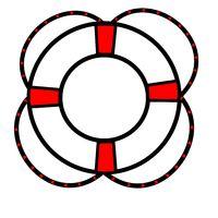 One lifebuoy red black