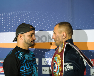 Arthur Abraham und Mehdi Bouadla Face to Face