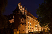 Malbork Castle at Night in Poland