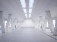 abstract architecture white interior