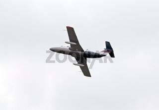 L-29 plane in flight