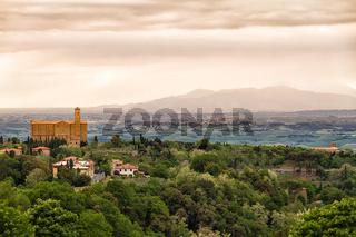 Landscape around Volterra, Tuscany, Italy
