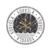 Kouvola city postal rubber stamp