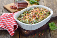 SouthTyrolean spinach spaetzle with bacon
