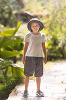Outdoor portrait of a cute boy