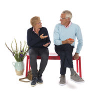Elderly Couple in waiting room