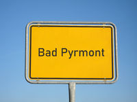 place name sign Bad Pyrmont