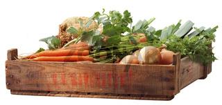 Crate vegetables