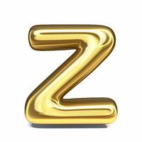Golden font Letter Z 3D