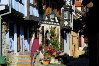 Gasse in Eguisheim, Elsass, France