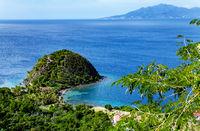 Felsen Pain du Sucre, Terre-de-Haut, Iles des Saintes, Les Saintes, Guadeloupe, Kleine Antillen, Karibik.