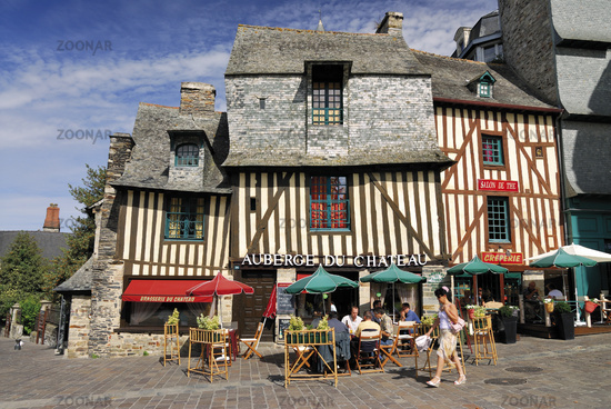 Brittany: Medieval half-timbered houses in Vitré