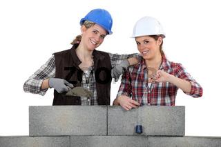 Two female masons